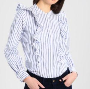 Banana republic striped blouse/shirt